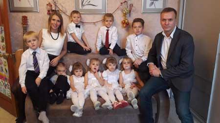 9 детей в семье Антона Кудрявцева